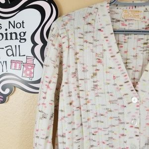 Full Fashioned Sweaters - Full Fashioned Multicolored Cardigan, size Large